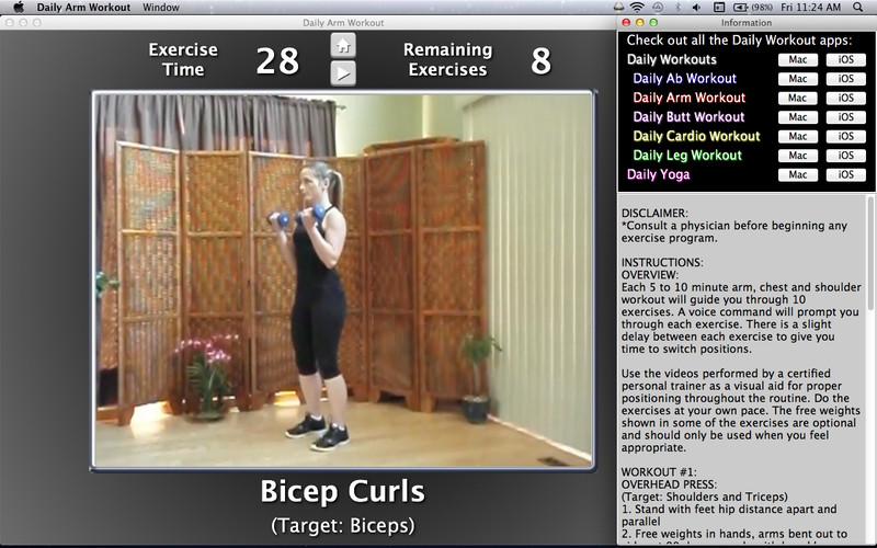 Daily Arm Workout screenshot