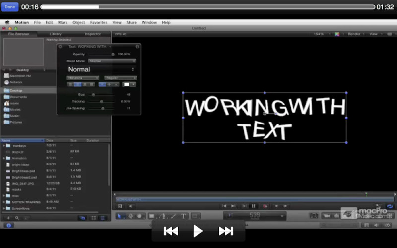 Course For Motion 5 103 - Animating Text screenshot