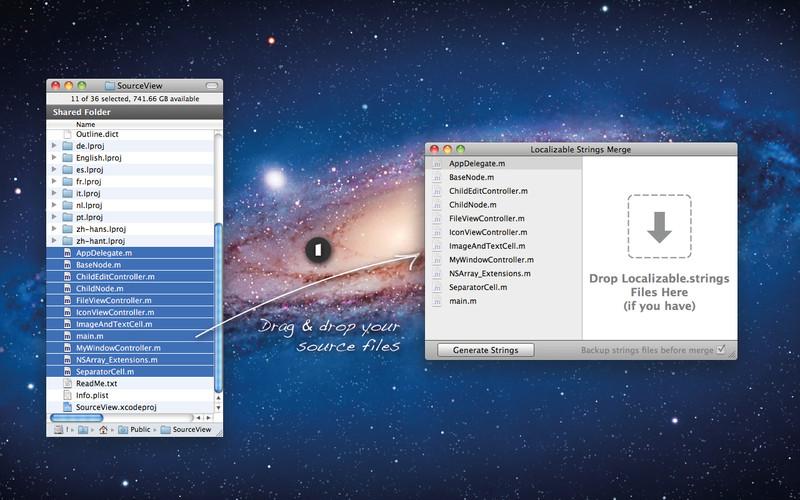 Localizable Strings Merge screenshot