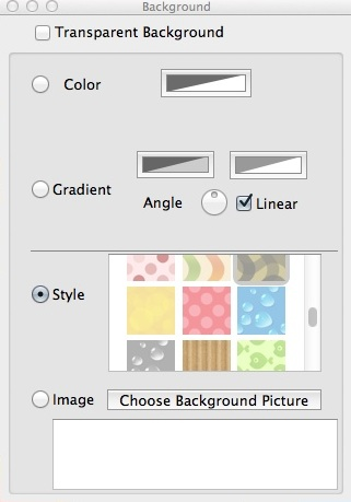 Configuring Background Settings