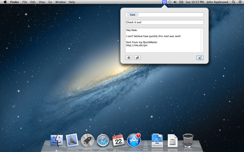 QuickMailer screenshot
