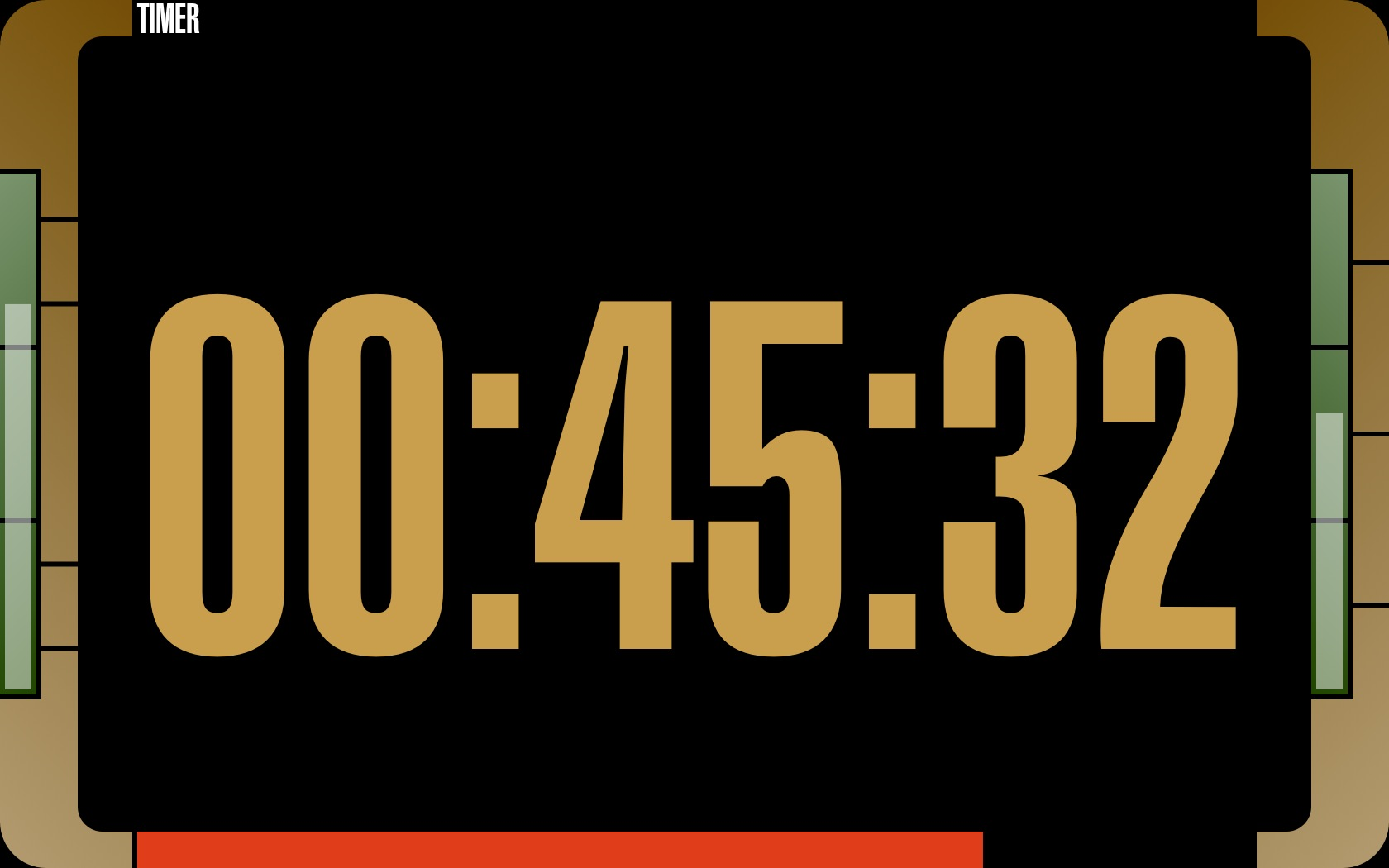 Full screen timer