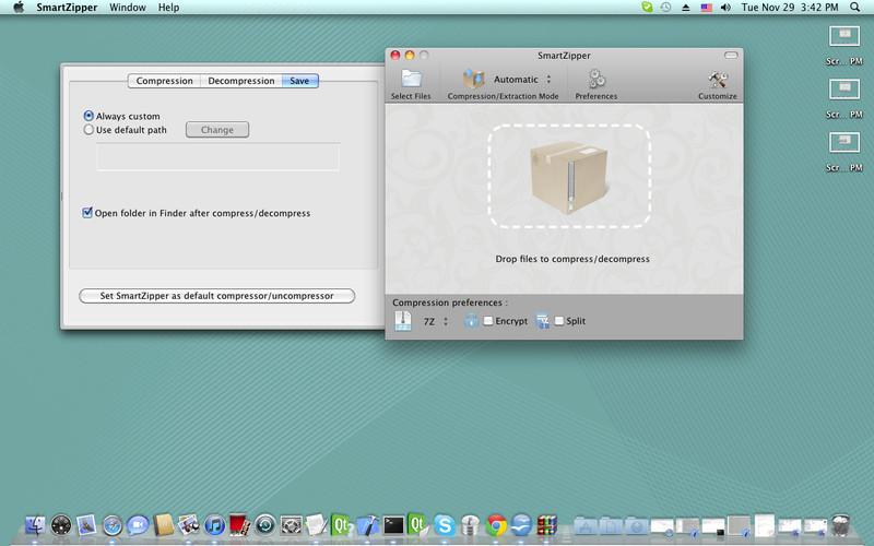 Smart Zipper - Compress, decompress Zip, 7Z, Rar files screenshot