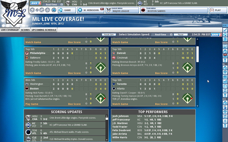 OOTP Baseball 13 screenshot