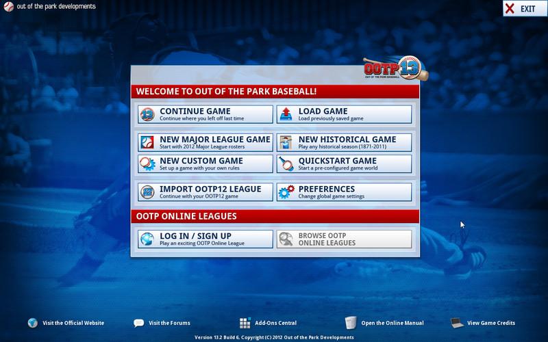 OOTP Baseball 13 screenshot