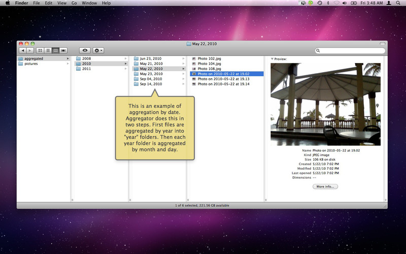 Aggregator screenshot