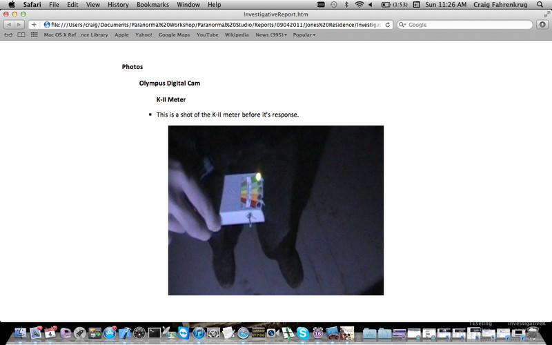 Paranormal Studio Software screenshot