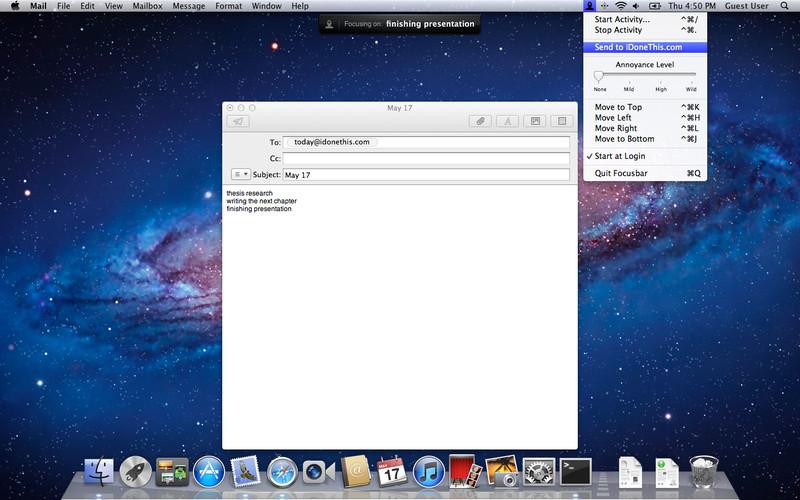 Focusbar screenshot