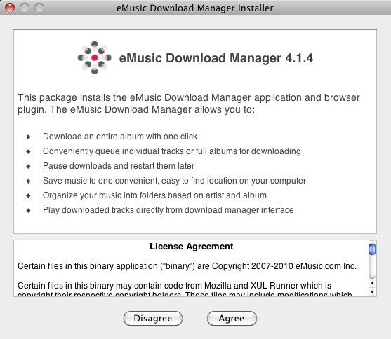 emusic download manager not working mac
