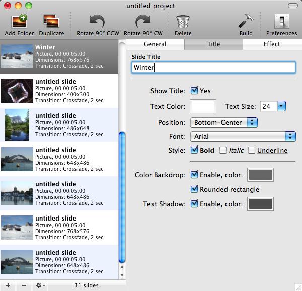 Single Slide Customization