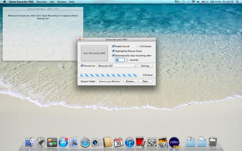 Demo Recorder PRO screenshot