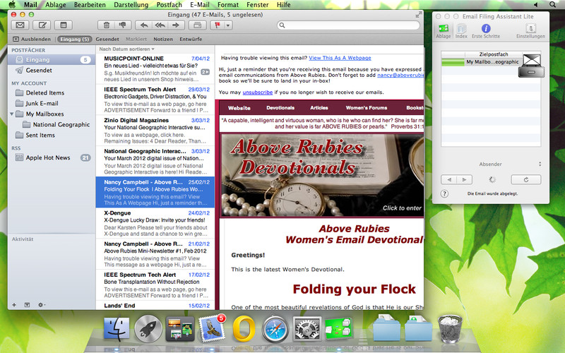 Email Filing Assistant Lite screenshot