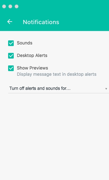 Configuring Notifications Settings