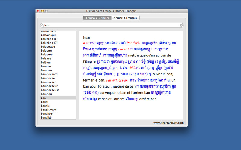 Dictionnaire Fran