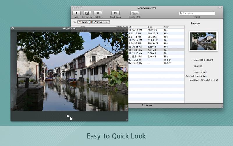 Smart Zipper Pro - Preview, Compress and Decompress Zip, 7z, Rar files screenshot