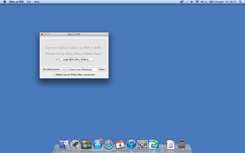 DjVu to PDF screenshot