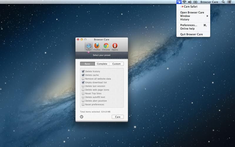 Browser Care screenshot