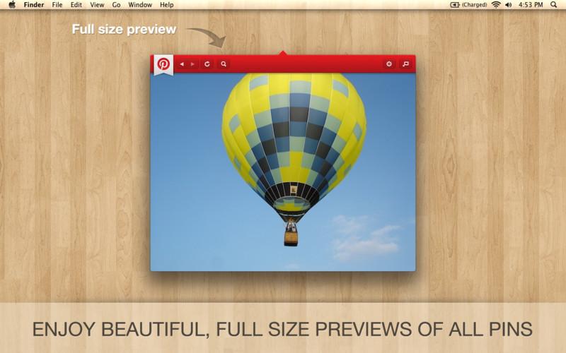 PinBar for Pinterest screenshot