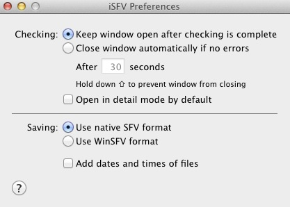 Download free iSFV for macOS