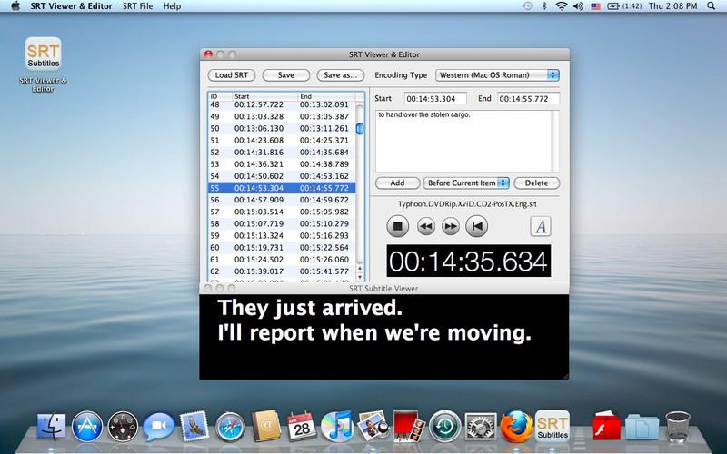 SRT Viewer & Editor screenshot