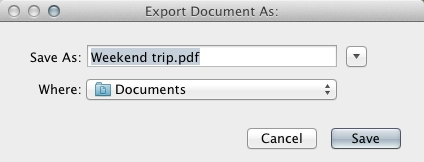 Exporting File