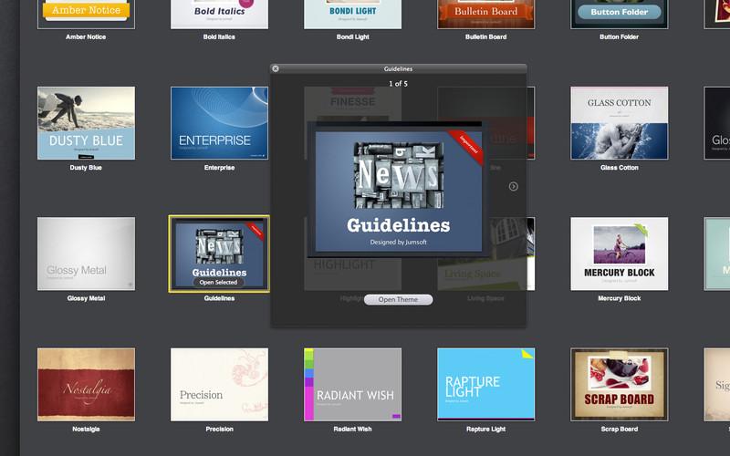 Jumsoft Themes for Keynote screenshot