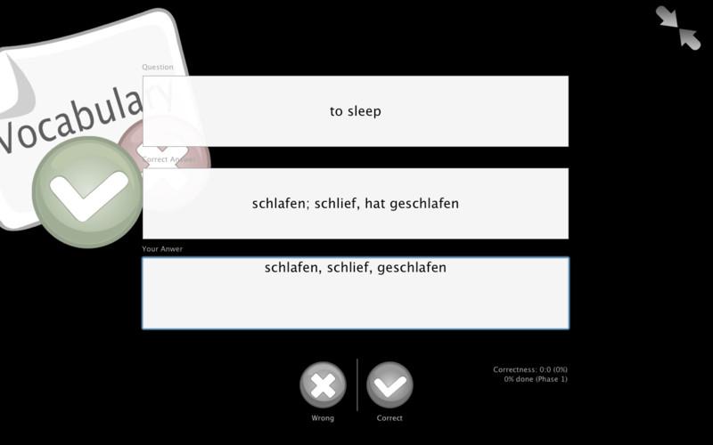 Vocabulary screenshot