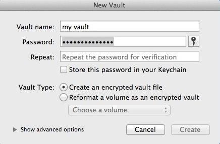 Creating New Vault