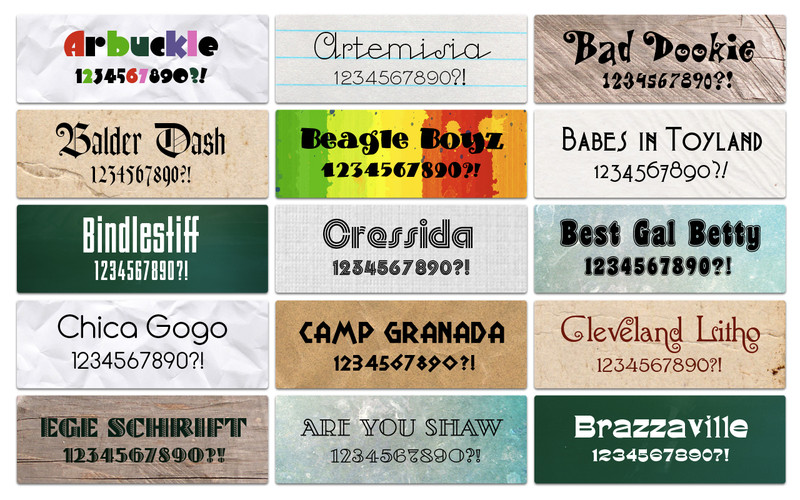 Font Kit Mix screenshot