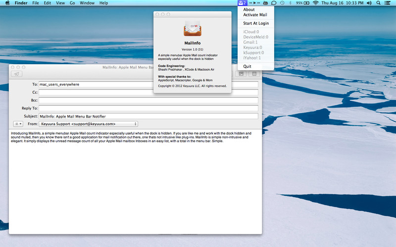 MailInfo screenshot