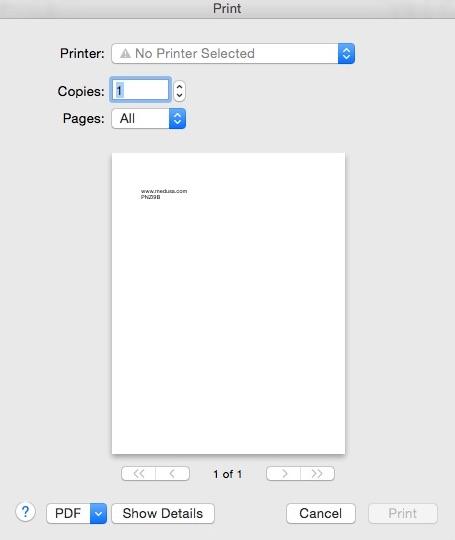 Printing Password Info