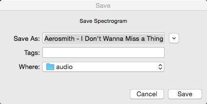 Exporting Spectrogram