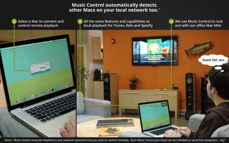 Download free Music Control for iTunes, Spotify, Rdio and