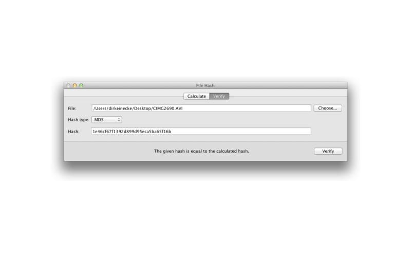 File Hash screenshot
