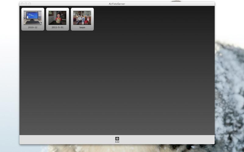 AirFoto Server screenshot