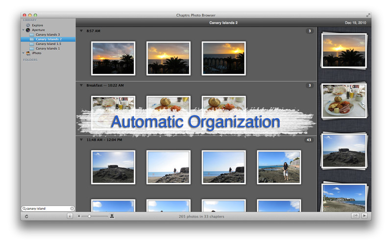 Chaptrs Photo Browser screenshot
