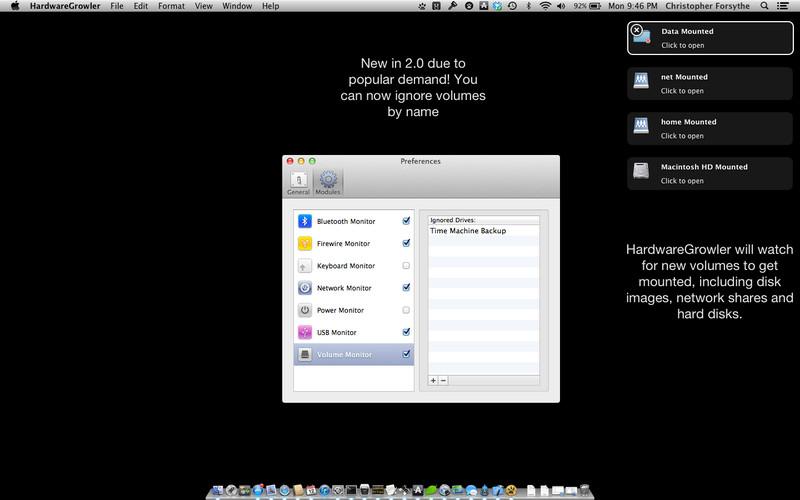 HardwareGrowler screenshot
