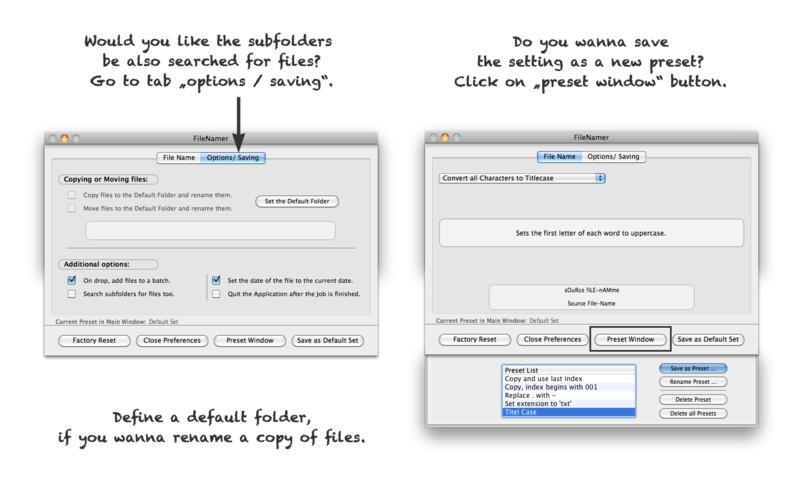 FileNamer screenshot