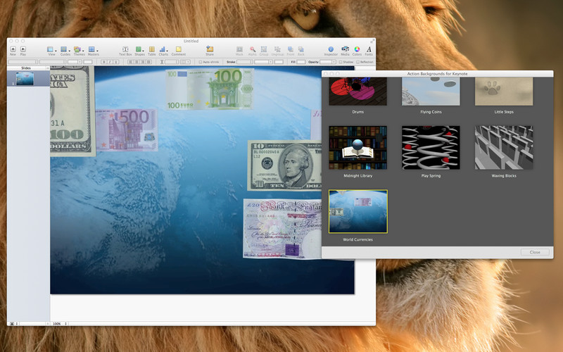 Action Backgrounds for Keynote screenshot