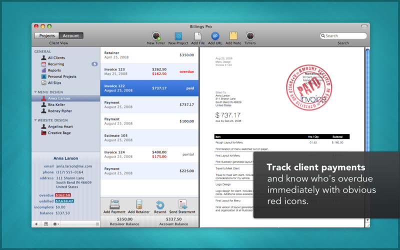 Billings Pro screenshot