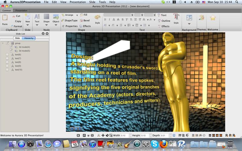 Aurora3D Presentation screenshot