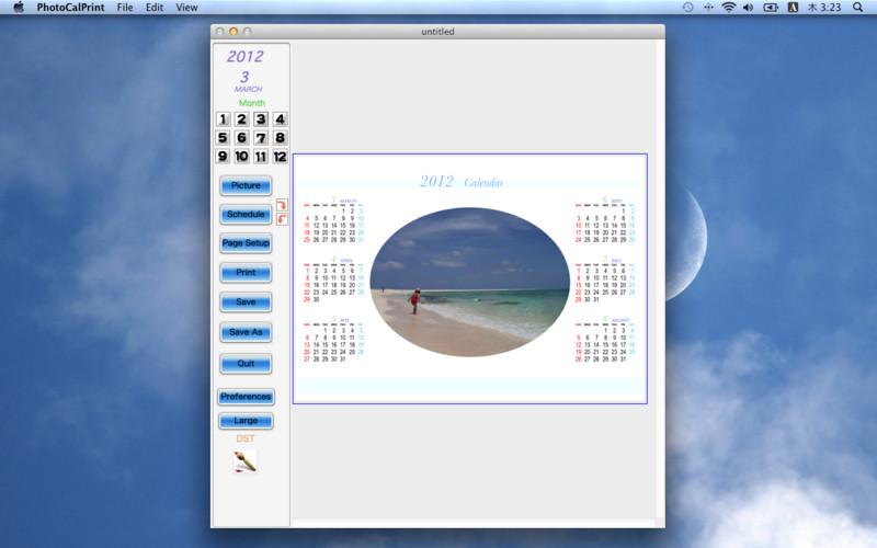 Photo Calendar Print screenshot