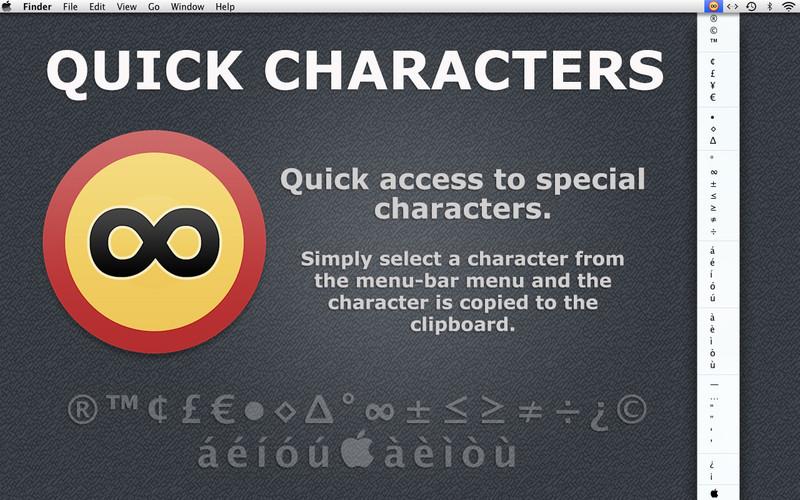Quick Characters screenshot