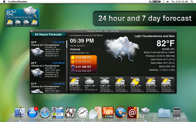 Live Dock Weather screenshot
