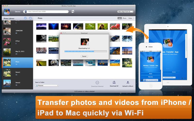 Wireless Transfer App screenshot