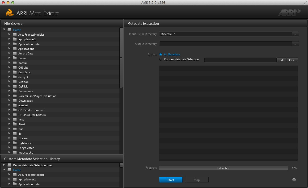 Download free ARRI Meta Extract for macOS