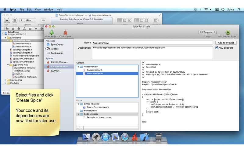 Spice for Xcode screenshot