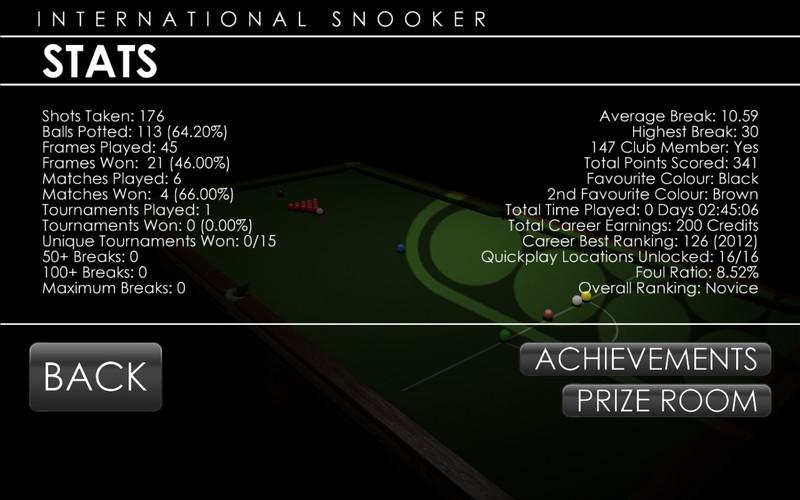 International Snooker 2012 screenshot