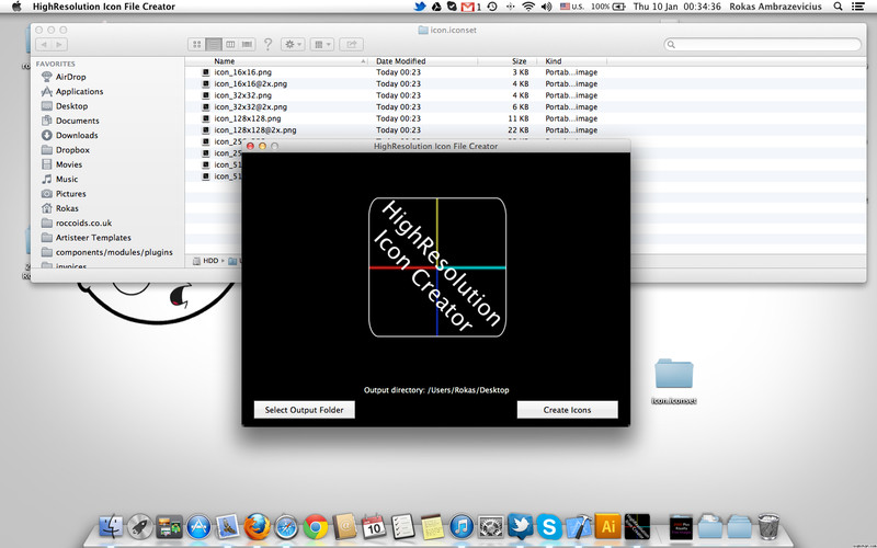 HighResolution Icon File Creator screenshot