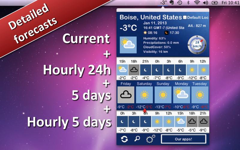 Weather 5 days screenshot